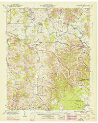 Normandy Tennessee Historical topographic map, 1:24000 scale, 7.5 X 7.5 Minute, Year 1947