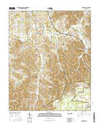 Normandy Tennessee Current topographic map, 1:24000 scale, 7.5 X 7.5 Minute, Year 2016 from Tennessee Map Store