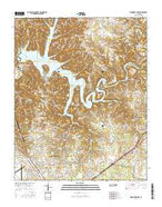 Normandy Lake Tennessee Current topographic map, 1:24000 scale, 7.5 X 7.5 Minute, Year 2016 from Tennessee Map Store