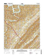 Norris Tennessee Current topographic map, 1:24000 scale, 7.5 X 7.5 Minute, Year 2016 from Tennessee Map Store