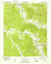 Olivehill Tennessee Historical topographic map, 1:24000 scale, 7.5 X 7.5 Minute, Year 1949
