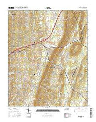 Ooltewah Tennessee Current topographic map, 1:24000 scale, 7.5 X 7.5 Minute, Year 2016