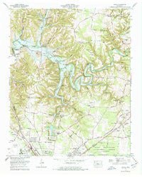 Ovoca Tennessee Historical topographic map, 1:24000 scale, 7.5 X 7.5 Minute, Year 1972