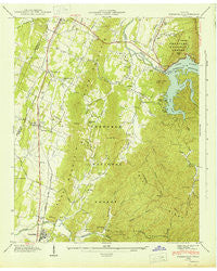 Parksville Tennessee Historical topographic map, 1:24000 scale, 7.5 X 7.5 Minute, Year 1943