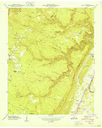 Pennine Tennessee Historical topographic map, 1:24000 scale, 7.5 X 7.5 Minute, Year 1949