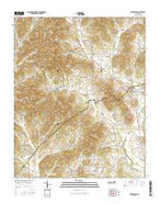 Petersburg Tennessee Current topographic map, 1:24000 scale, 7.5 X 7.5 Minute, Year 2016 from Tennessee Map Store