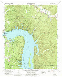 Pickwick Tennessee Historical topographic map, 1:24000 scale, 7.5 X 7.5 Minute, Year 1972