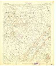 Pikeville Tennessee Historical topographic map, 1:125000 scale, 30 X 30 Minute, Year 1892