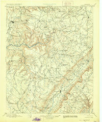 Pikeville Tennessee Historical topographic map, 1:125000 scale, 30 X 30 Minute, Year 1895
