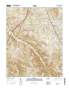 Portland Tennessee Current topographic map, 1:24000 scale, 7.5 X 7.5 Minute, Year 2016