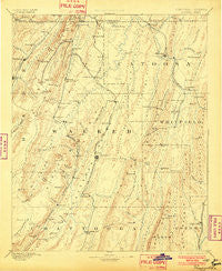 Ringgold Georgia Historical topographic map, 1:125000 scale, 30 X 30 Minute, Year 1892