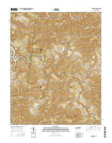 Riverton Tennessee Current topographic map, 1:24000 scale, 7.5 X 7.5 Minute, Year 2016
