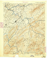 Roan Mountain Tennessee Historical topographic map, 1:125000 scale, 30 X 30 Minute, Year 1891