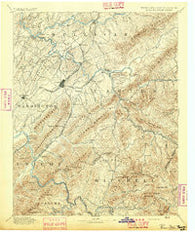 Roan Mountain Tennessee Historical topographic map, 1:125000 scale, 30 X 30 Minute, Year 1894