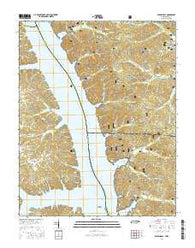 Rushing Bay Tennessee Current topographic map, 1:24000 scale, 7.5 X 7.5 Minute, Year 2016