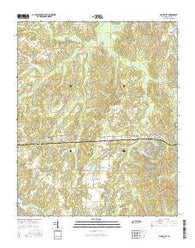 Saulsbury Tennessee Current topographic map, 1:24000 scale, 7.5 X 7.5 Minute, Year 2016