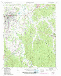 Savannah Tennessee Historical topographic map, 1:24000 scale, 7.5 X 7.5 Minute, Year 1972