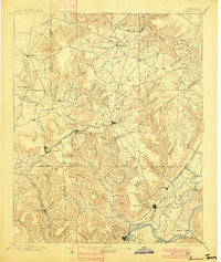 Sewanee Tennessee Historical topographic map, 1:125000 scale, 30 X 30 Minute, Year 1895