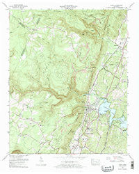 Soddy Tennessee Historical topographic map, 1:24000 scale, 7.5 X 7.5 Minute, Year 1972