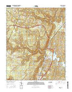 Soddy Tennessee Current topographic map, 1:24000 scale, 7.5 X 7.5 Minute, Year 2016 from Tennessee Map Store