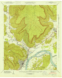 South Pittsburg Tennessee Historical topographic map, 1:24000 scale, 7.5 X 7.5 Minute, Year 1943