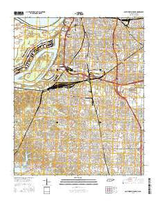 Southwest Memphis Tennessee Current topographic map, 1:24000 scale, 7.5 X 7.5 Minute, Year 2016