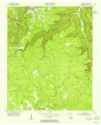 Spencer Tennessee Historical topographic map, 1:24000 scale, 7.5 X 7.5 Minute, Year 1954