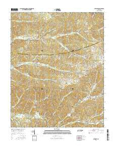 Stewart Tennessee Current topographic map, 1:24000 scale, 7.5 X 7.5 Minute, Year 2016