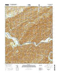Tallassee Tennessee Current topographic map, 1:24000 scale, 7.5 X 7.5 Minute, Year 2016