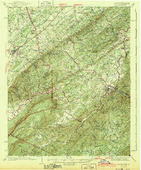 Tellico Tennessee Historical topographic map, 1:62500 scale, 15 X 15 Minute, Year 1943