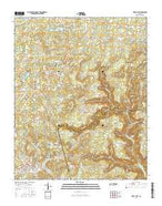 Tracy City Tennessee Current topographic map, 1:24000 scale, 7.5 X 7.5 Minute, Year 2016 from Tennessee Map Store