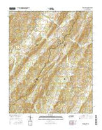 Tranquillity Tennessee Current topographic map, 1:24000 scale, 7.5 X 7.5 Minute, Year 2016 from Tennessee Map Store