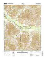 Trezevant West Tennessee Current topographic map, 1:24000 scale, 7.5 X 7.5 Minute, Year 2016 from Tennessee Map Store