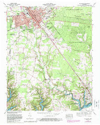 Tullahoma Tennessee Historical topographic map, 1:24000 scale, 7.5 X 7.5 Minute, Year 1972
