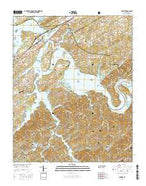 Vonore Tennessee Current topographic map, 1:24000 scale, 7.5 X 7.5 Minute, Year 2016 from Tennessee Map Store
