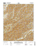 Walden Creek Tennessee Current topographic map, 1:24000 scale, 7.5 X 7.5 Minute, Year 2016 from Tennessee Map Store
