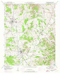 Wartrace Tennessee Historical topographic map, 1:24000 scale, 7.5 X 7.5 Minute, Year 1949
