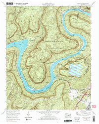 Wauhatchie Tennessee Historical topographic map, 1:24000 scale, 7.5 X 7.5 Minute, Year 1970