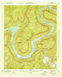 Wauhatchie Tennessee Historical topographic map, 1:24000 scale, 7.5 X 7.5 Minute, Year 1943