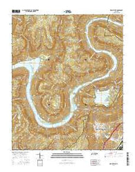 Wauhatchie Tennessee Current topographic map, 1:24000 scale, 7.5 X 7.5 Minute, Year 2016