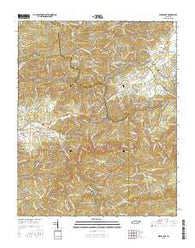 Wear Cove Tennessee Current topographic map, 1:24000 scale, 7.5 X 7.5 Minute, Year 2016