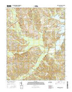 West Sandy Dike Tennessee Current topographic map, 1:24000 scale, 7.5 X 7.5 Minute, Year 2016 from Tennessee Map Store