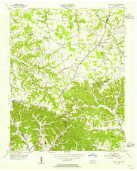 White House Tennessee Historical topographic map, 1:24000 scale, 7.5 X 7.5 Minute, Year 1954