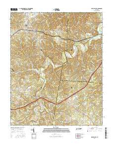 White Bluff Tennessee Current topographic map, 1:24000 scale, 7.5 X 7.5 Minute, Year 2016