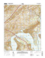 White Pine Tennessee Current topographic map, 1:24000 scale, 7.5 X 7.5 Minute, Year 2016 from Tennessee Map Store