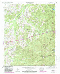 Yuma Tennessee Historical topographic map, 1:24000 scale, 7.5 X 7.5 Minute, Year 1950