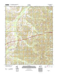 Yuma Tennessee Historical topographic map, 1:24000 scale, 7.5 X 7.5 Minute, Year 2013