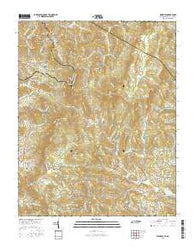 Zionville Tennessee Current topographic map, 1:24000 scale, 7.5 X 7.5 Minute, Year 2016