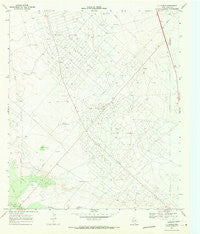 7 L Ranch Texas Historical topographic map, 1:24000 scale, 7.5 X 7.5 Minute, Year 1969
