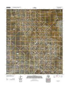 7 L Ranch Texas Historical topographic map, 1:24000 scale, 7.5 X 7.5 Minute, Year 2012